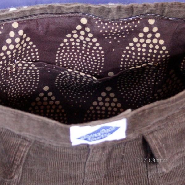 Guépard - sac à main upcycling int