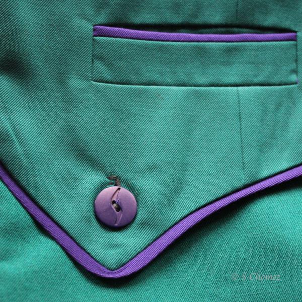 Sabena sac à main Upcycling détail
