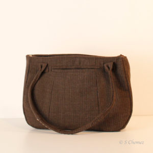Sac à main Upcycling Marron dos