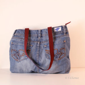 Sac cabas Upcycling Esprit brillant dos