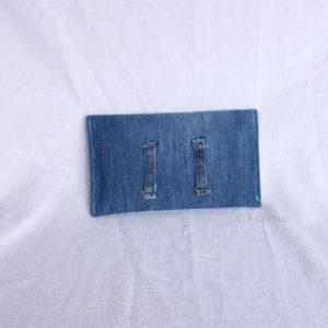Housse GSM ceinture upcycling bleu-étoile 1 dos