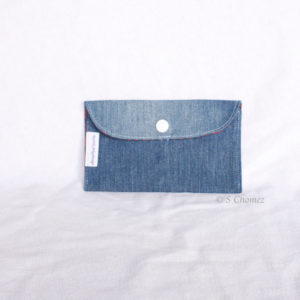 Housse GSM ceinture upcycling bleu-étoile 1 face