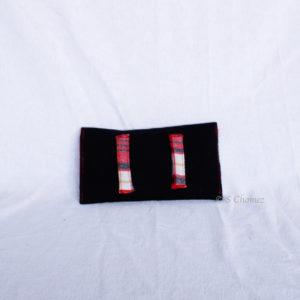Housse GSM ceinture upcycling noir dos