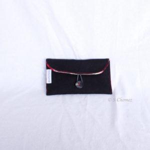 Housse GSM ceinture upcycling noir face