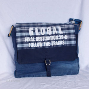 Messengerbag Global upcycling