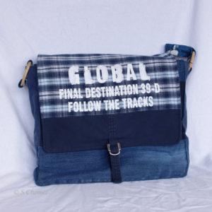 Messengerbag Global upcycling