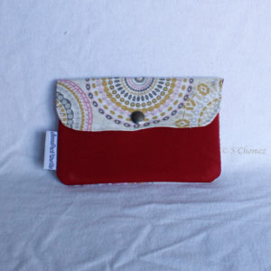 Portefeuille Klara rouge upcycling