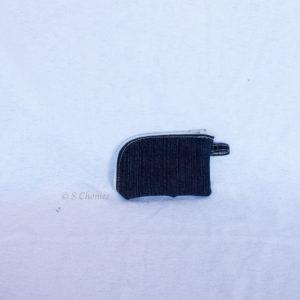 Portes-cartes upcycling jeans poche dos