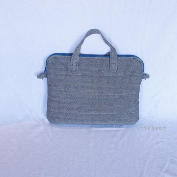 Sac pour Macbook upcycling Tweed dos