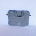 Sac pour Macbook upcycling Tweed face