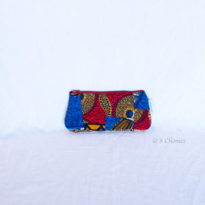 Trousses Africa Upcycling fleur dos