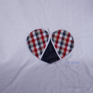 manique upcycling coeur - rouge