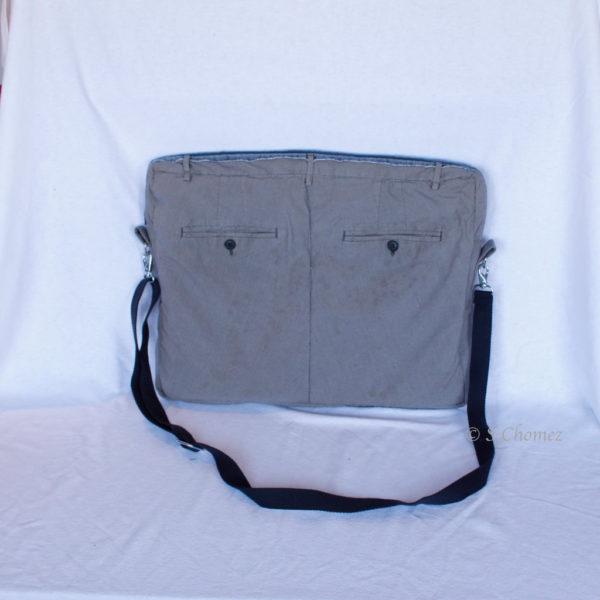 sac pour laptop upcycling pants dos