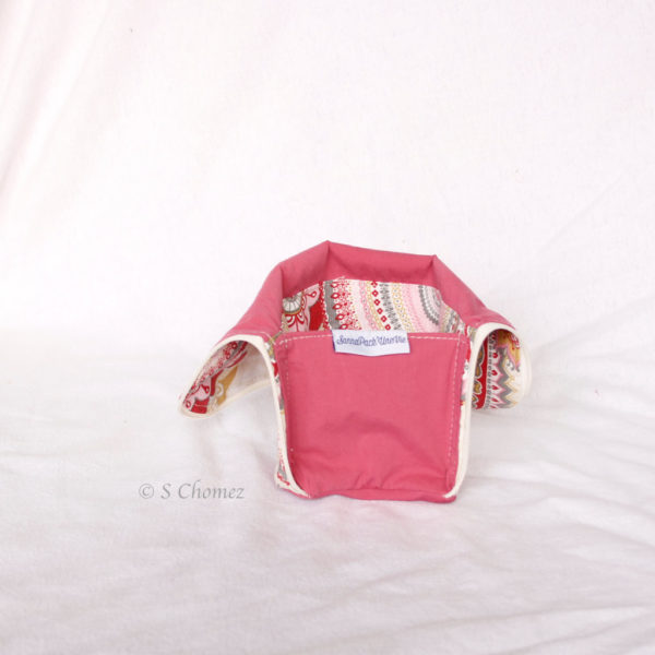 Trousse Vertical trio upcycling rose int