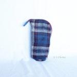 Trousse en mode Vertical upcycling nov - bleu bordeaux