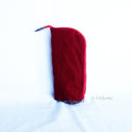 Trousse en mode Vertical upcycling nov - rouge