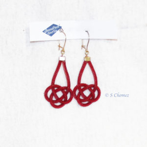 boucle d'oreille upcycling zip