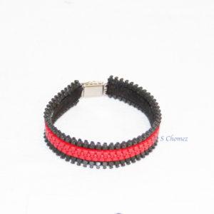 bracelet upcycling zip