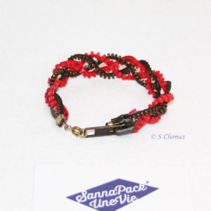 bracelet zip upcycling