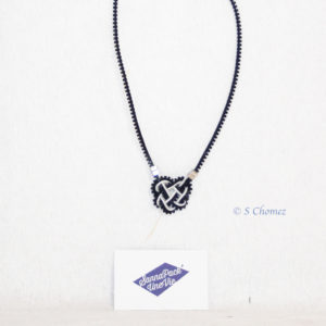 collier coeur celtique upcycling zip