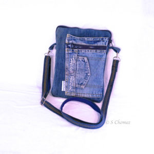 sac jeanette bandoulière upcycling jeans
