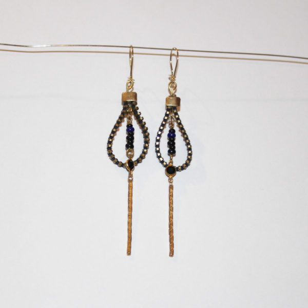 bo drop pendentif noir Ag upcycling zip